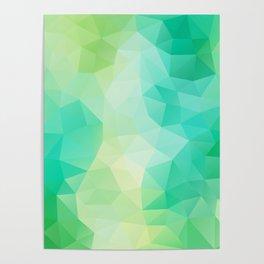 """Spring mood"" geometric design Poster"