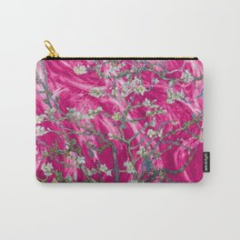 Vincent van Gogh Blossoming Almond Tree (Almond Blossoms) Pink Sunset Carry-All Pouch