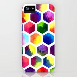 Rainbow Hexagons iPhone Case