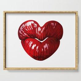 Heart Shaped Lips Serving Tray
