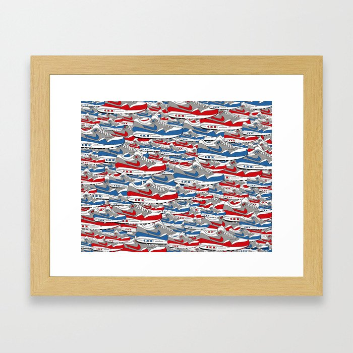 Air Max All Over Framed Art Print