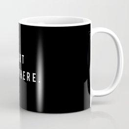 start somewhere. / black Coffee Mug