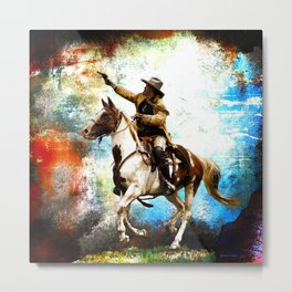Buffalo Bill Rides Again Metal Print