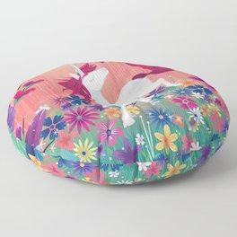 Floral Frolic Unicorn Floor Pillow