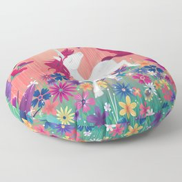 Floral Frolic Unicorn Floor Pillow