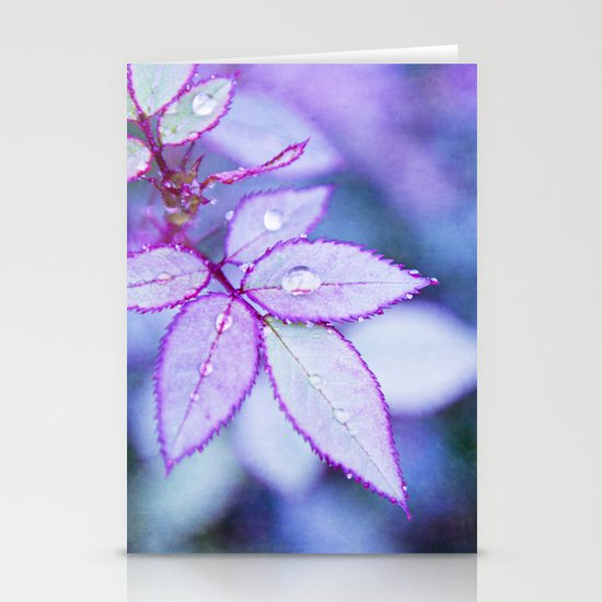Lilac Rim Stationery Cards
