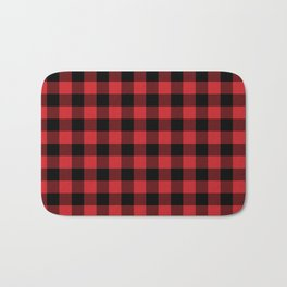 Buffalo Plaid Rustic Lumberjack Buffalo Check Pattern Bath Mat