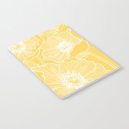 Sunshine Yellow Poppies Notebook