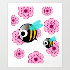 The first Bee Buzz of Spring Art Print
