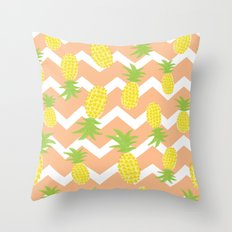 Orange Pinapple Pattern Throw Pillow