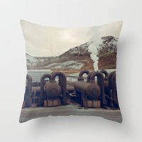 iceland Throw Pillows featuring Iceland by very giorgious