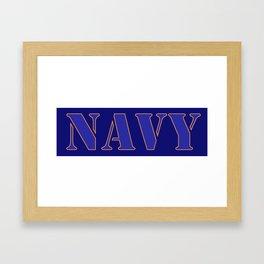 U.S. Navy  Framed Art Print