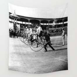 Bicycle race Wall Tapestry