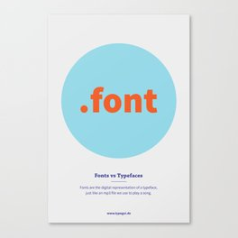 Fonts vs Typefaces Canvas Print
