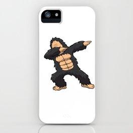 Dabbing Gorilla Shirt Ape Monkey Big Foot Dab Kids iPhone Case