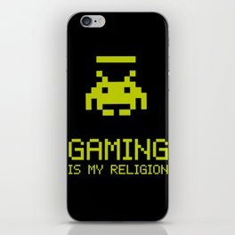 Gaming is my religion iPhone Skin