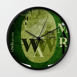 Owls are wise Wall Clock