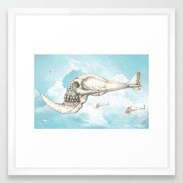flying piranha Framed Art Print