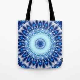 Mandala Iceblue Tote Bag