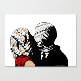 The kiss of lovers Canvas Print