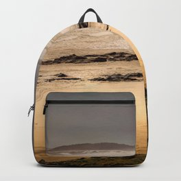 Stormy Day At Gallows Beach Backpack