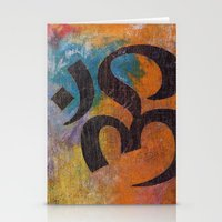 om Stationery Cards featuring Om by Michael Creese