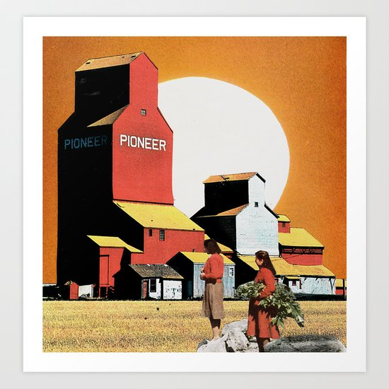 End Of The Harvest Art Print