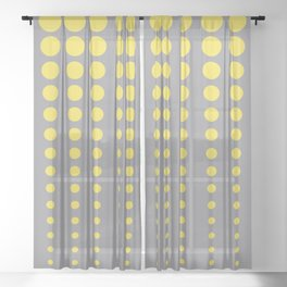 Reduced Polka Dot Pattern Pairs To 2021 Color Pantone 2021 Color Of The Year Illuminating and Ultimate Gray Sheer Curtain