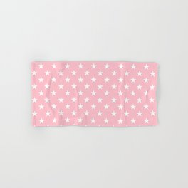 Stars (White/Pink) Hand & Bath Towel