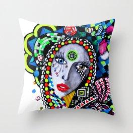 SERPENTINA COLORIDA Throw Pillow