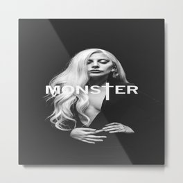 Lady Gaga's Portrait Monster Metal Print
