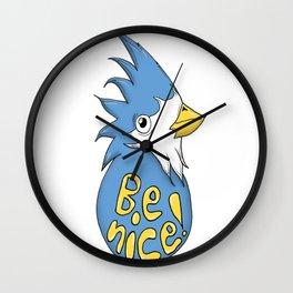 Be Nice Blue Bird Wall Clock
