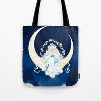 avatar Tote Bags featuring Yue - Avatar by Stephanie Kao