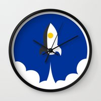 interstellar Wall Clocks featuring Interstellar by Sumalab