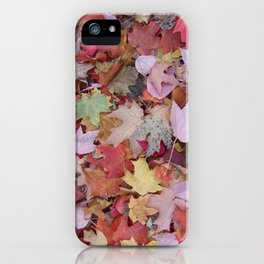 red maple medley iPhone Case