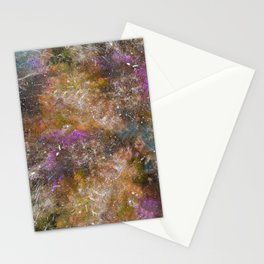 A galactic ocean -Orange- Cosmic Painting Art Stationery Cards