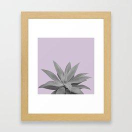 Lavender Gray Agave Vibes #1 #tropical #decor #art #society6 Framed Art Print