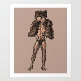 Teddy Bear Guy Art Print