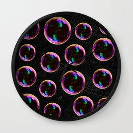 Soap Bubbles Pattern Wall Clock
