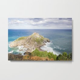 San Juan de Gaztelugatxe landscape Metal Print