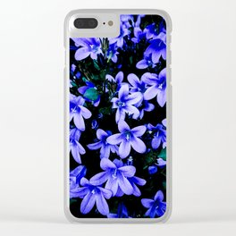 Copacetic Campanula Clear iPhone Case