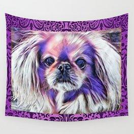 Peak in purple Wall Tapestry