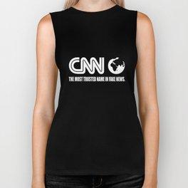 CNN Fake News Network Funny Tabloid Lying Corrupt Liberal Media Trump  america Biker Tank