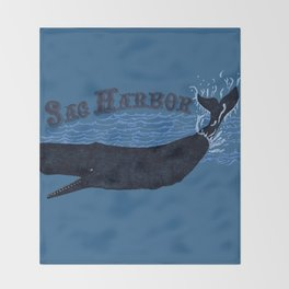 Sag Harbor Whale Throw Blanket