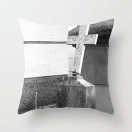 old cross Throw Pillow