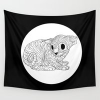 sphynx Wall Tapestries featuring Sphynx  by Camelo
