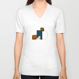 Abstrato 02 // Abstract Geometry Minimalist Illustration Unisex V-Neck