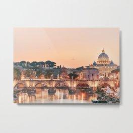 Dusk in Rome Metal Print