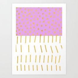 AZTEC BABE - Modern Pink Furniture Art Print