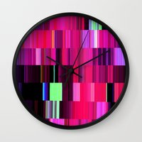 game Wall Clocks featuring Game by Simona Sacchi